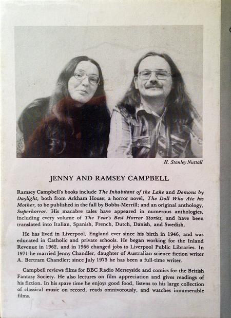 Hardcover, Arkham House 1976, med nydeligt billede af hr. og fru Campbell på bagsiden
