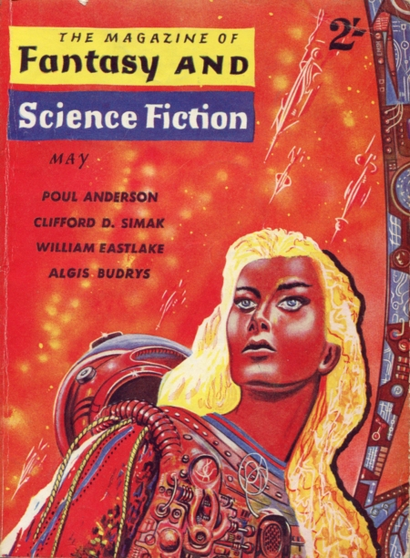 The Magazine of Fantasy and Science Fiction, maj 1961. Fantasy og SF side om side