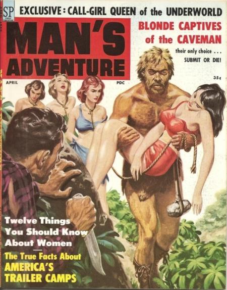 MAN'S ADVENTURE, april 1959