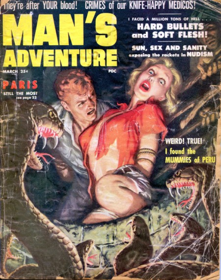 MAN'S ADVENTURE, marts 1956