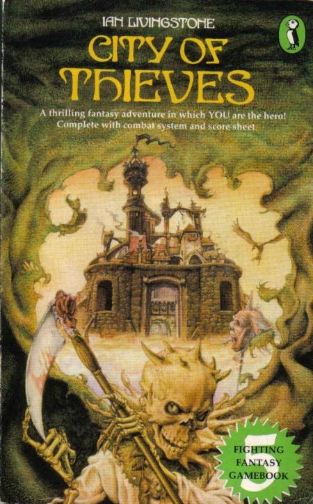 Paperback, Puffin Books 1983. Den smagfulde forside er malet af Iain McCaig