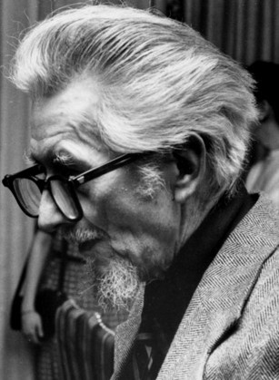 Den aldrende Frank Belknap Long (27. april 27 1901 – 3. januar 1994) fotograferet i begyndelsen af 1970'erne
