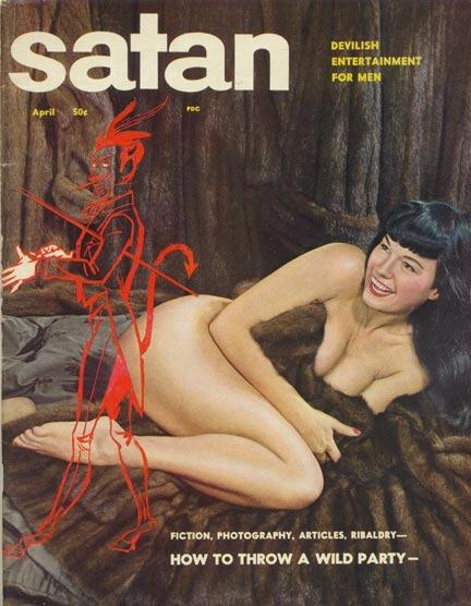 Satan, april 1957. Her med selveste Bettie Page på forsiden