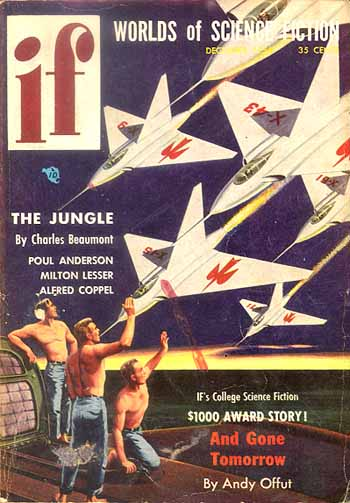 "IF Magazine, december-1954, med novellen ""The Jungle"""