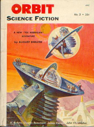 "Oribit Magazine, marts 1953, med novellen ""The Place of Meeting"""