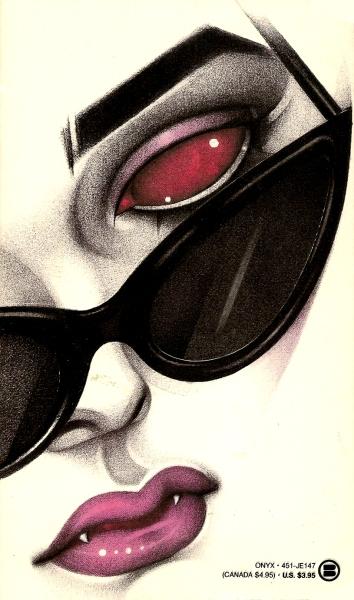 Paperback, Onyx 1989. Romanens 1. udgave